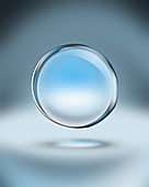 Floating water bubble