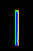 Nanowire LED simulation, illustration