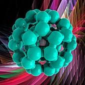 Buckyball molecule C60, illustration