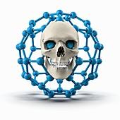 Nanotechnology risks, conceptual illustration