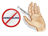 Use of adrenaline in woundcare, illustration