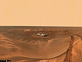 Landing area for Mars rover Opportunity, April 2004