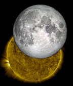 Moon and Sun, LRO and SDO images