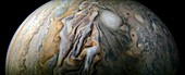 Storms on Jupiter, JunoCam image