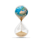 Time running out for the Earth, conceptual image