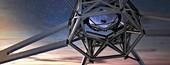 European Extremely Large Telescope secondary mirror, illustr