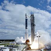 Delta II rocket lifts off carrying GPS satellite, 1997