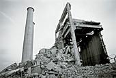 Demolition of power plant