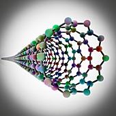 Carbon nanotube, molecular model