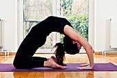 Yoga camel position