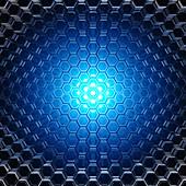 Hexagonal pattern, illustration
