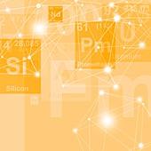 Silicon and promethium chemical elements, illustration