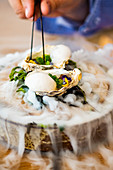 Oysters on Dry Ice