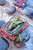 Marinated sardines with mint