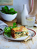 Spinach and Ricotta Lasagne (Slow cooking)