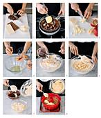 Ciambellone (Italienischen Gugelhupf) mit drei Sorten Schokolade zubereiten