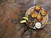 Cockle samphire fishcakes