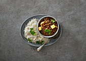 Tofu and lentil thai red curry