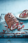Mixed chocolat berry roulade