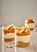 No-bake nectarine cheesecake