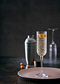 Elderflower and sparkling wine cocktail