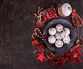 Almond and chocolate snowball cookies
