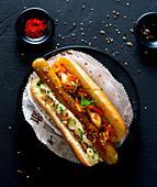 Hot Dog mit Kimchi