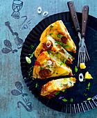 Party frittata with potatoes and leek