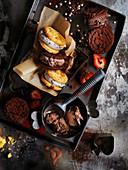 Chocolate Ice-Cream Cookie Sandwiches