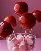 Toffee apples and marshmallows