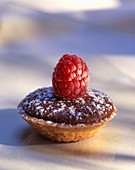 Chocolate tartlet with raspberry