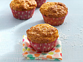 Muffins with grated coconut