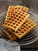 Waffles on a cooling grid