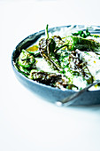 Tzatziki with courgette and roasted peppers