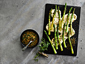Grilled Asparagus With Buttersauce Toasted Spring Herb Crumb
