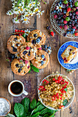 Berry muffins with quark