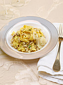 Pappardelle with a champagne and capon ragout