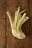 Cardoon on a wooden background