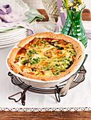Pie, spring, flowers, vegetables, peas