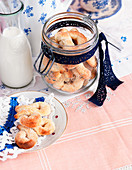 Homemade biscuits in a flip-top jar