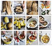 Stoccafisso alla anconitana (Stockfisch mit Kartoffeln in Weisswein, Italien) zubereiten
