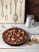 Toffee and walnut tart