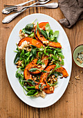 Pumpkin and bulgur salad with walnuts