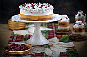Christmas pumpkin and cranberry mousse and cake