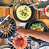 Curries, pickles and salads in Sri Lanka