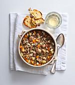 Lentil and chestnut soup