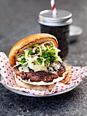 Burger with coleslaw