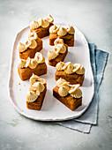 Mini Banana Bread mit Dulce de Leche