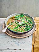 Spring minestrone with pancetta