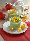 Potato soup with avocado (Christmas)